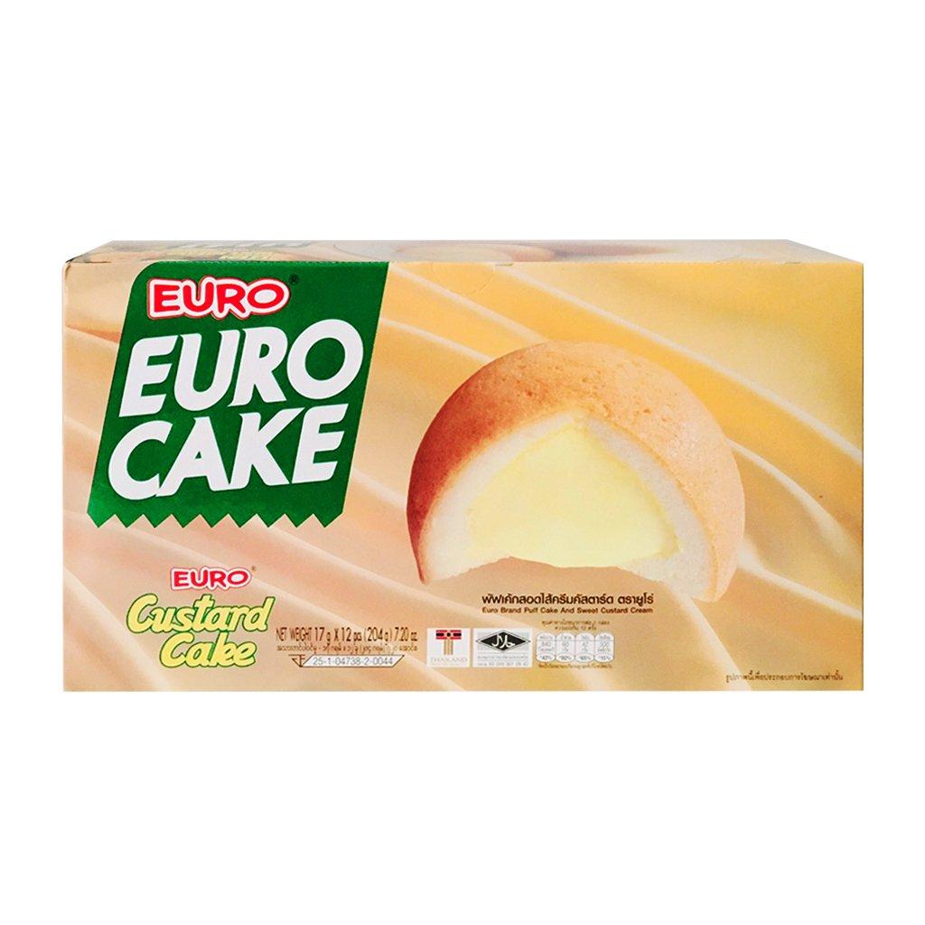 Bánh Bông Lan Trứng Euro Custard Cake
