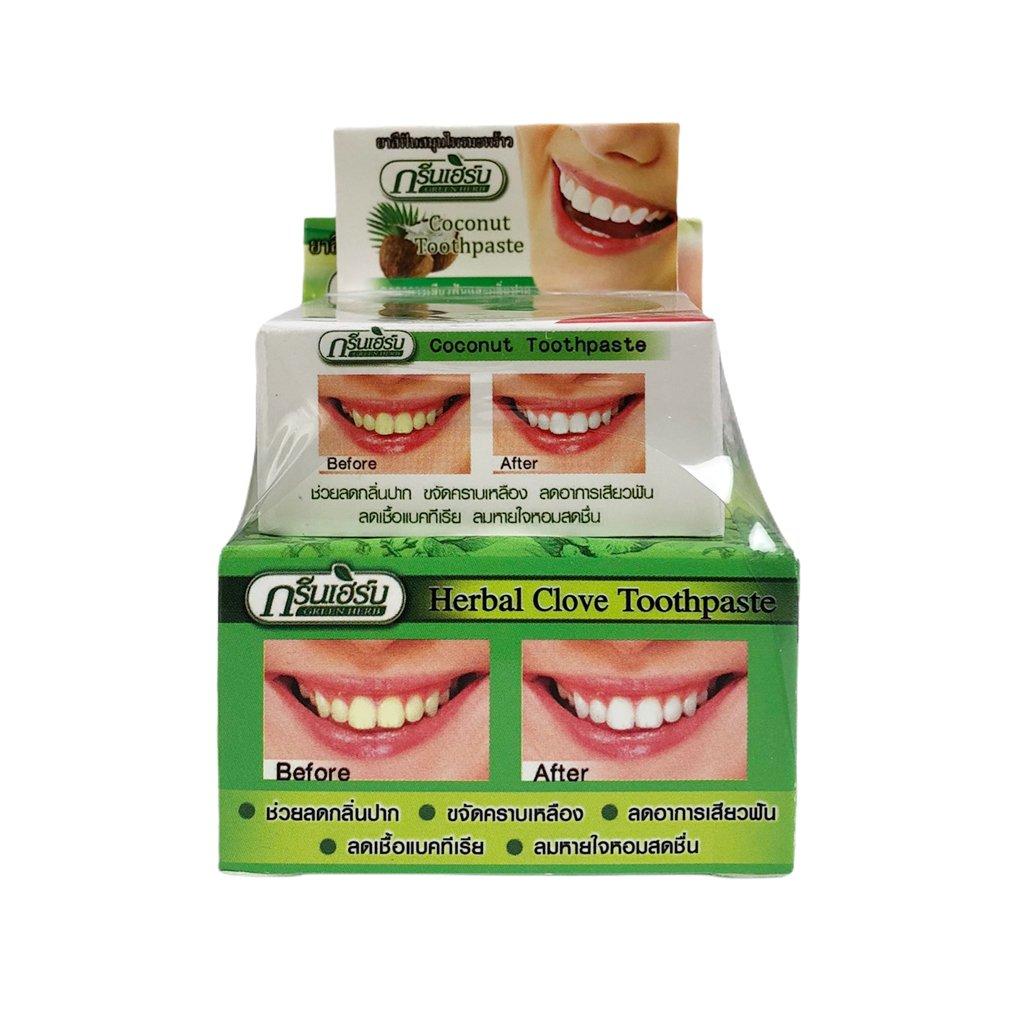 Kem tẩy trắng răng Green Herb