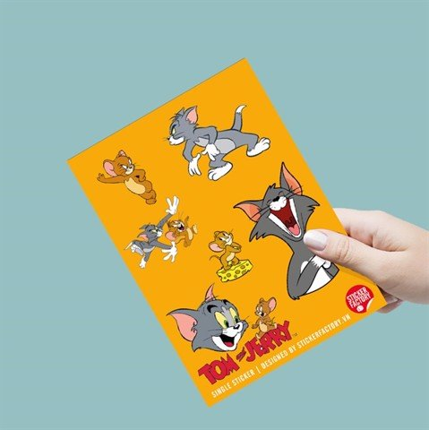 Tom and Jerry - Single sticker hình dán lẻ