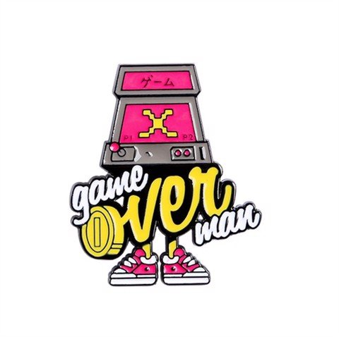 Game over man 3.5x3cm - Pin sticker ghim cài áo