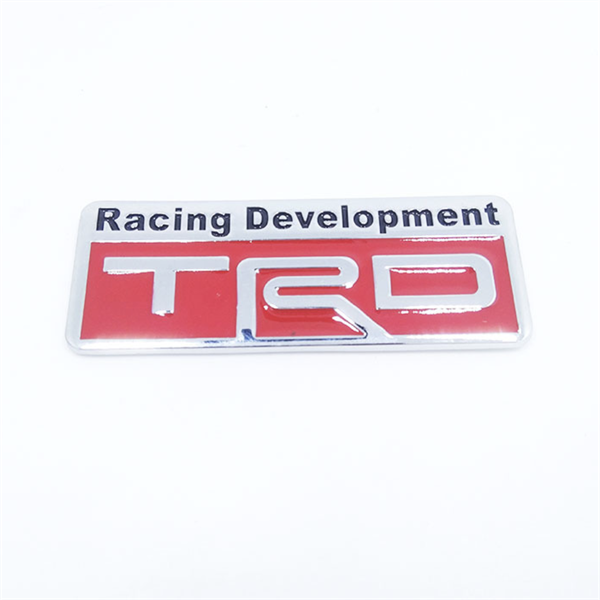 TRD Toyota Racing Development - Sticker hình dán metal kim loại 3D