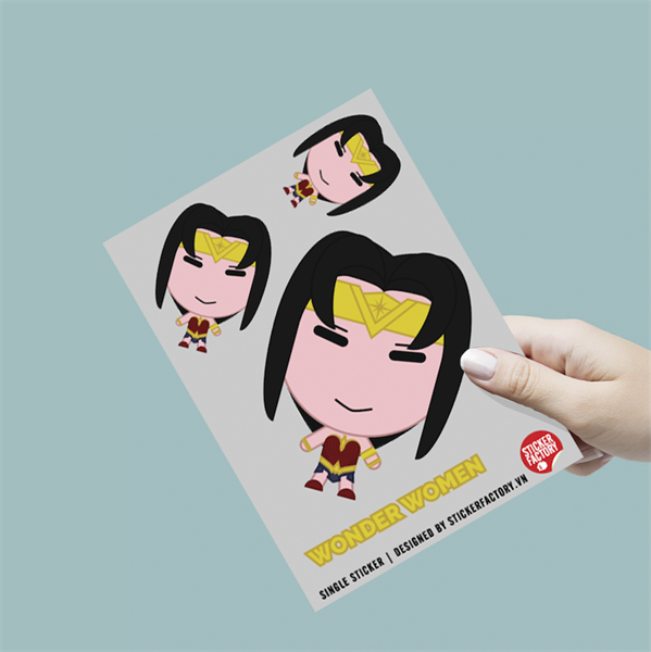 Wonder Woman - Single Sticker hình dán lẻ