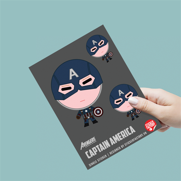 Captain America - Single Sticker hình dán lẻ