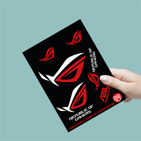 ASUS Republic Of Gamers - Single Sticker hình dán lẻ
