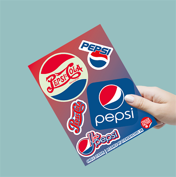 I love Pepsi - Single Sticker hình dán lẻ Pepsi-Cola