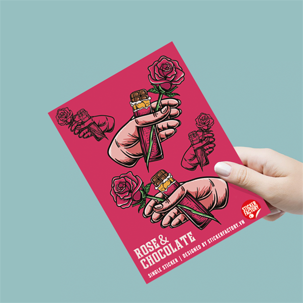 Rose & Chocolate - Single Sticker hình dán lẻ