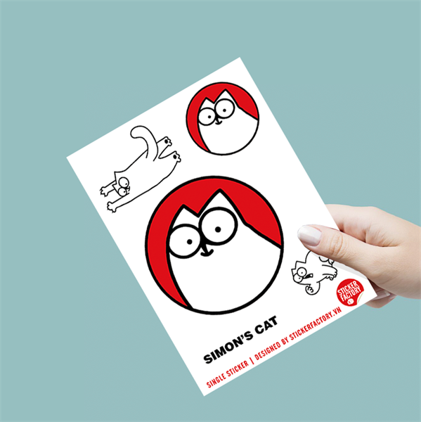 Simon's Cat - Single Sticker hình dán lẻ