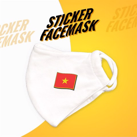 Việt Nam Flag - Sticker Face Mask