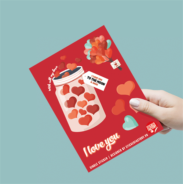 I love you - Single Sticker hình dán lẻ
