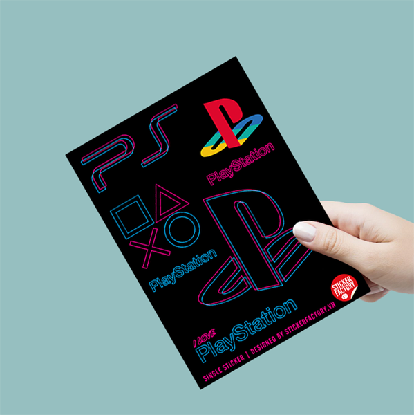 I love Playstation - Single Sticker hình dán lẻ