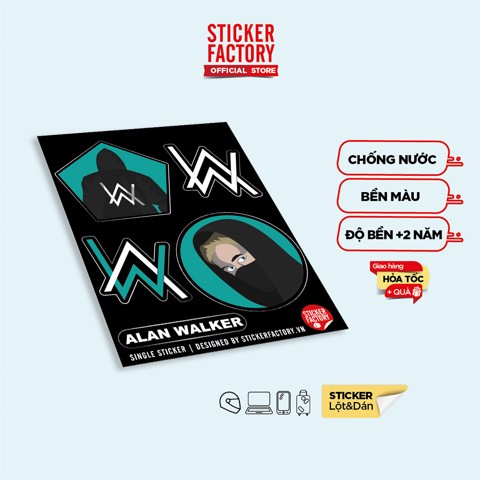Alan Walker - Single Sticker hình dán lẻ