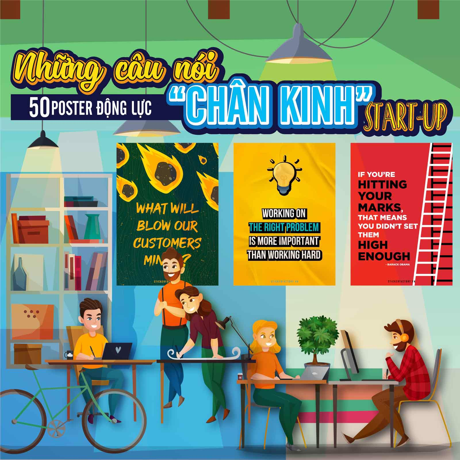 If you play it safe no one will ever know who you are - Poster động lực Chân Kinh Startup