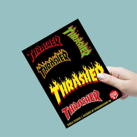 Thrasher - Single Sticker hình dán lẻ
