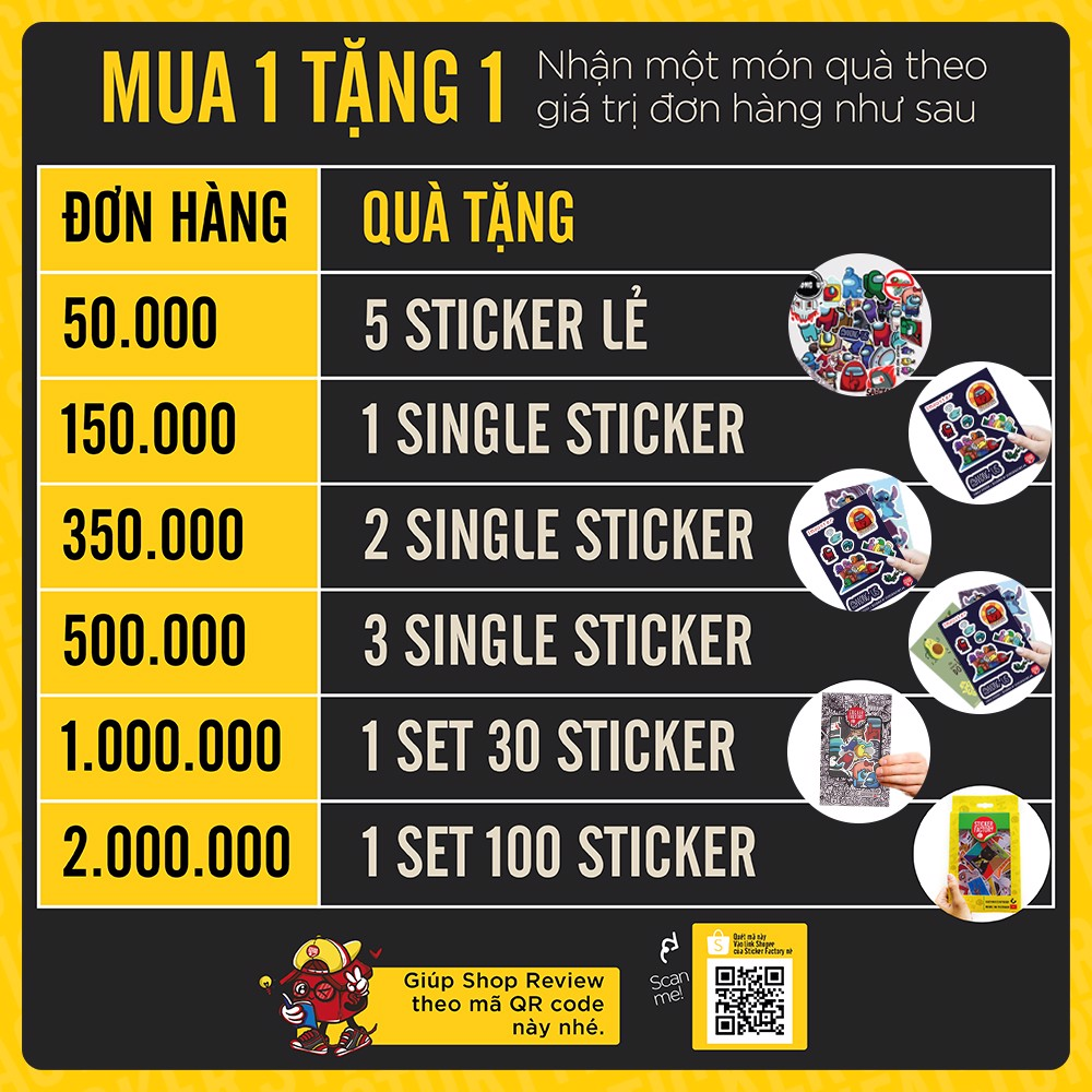 Mickey - Set 30 sticker hình dán