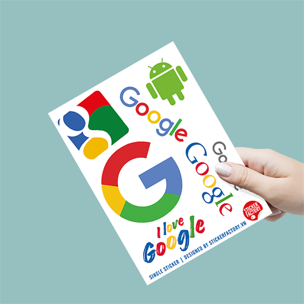 I love Google - Single Sticker hình dán lẻ