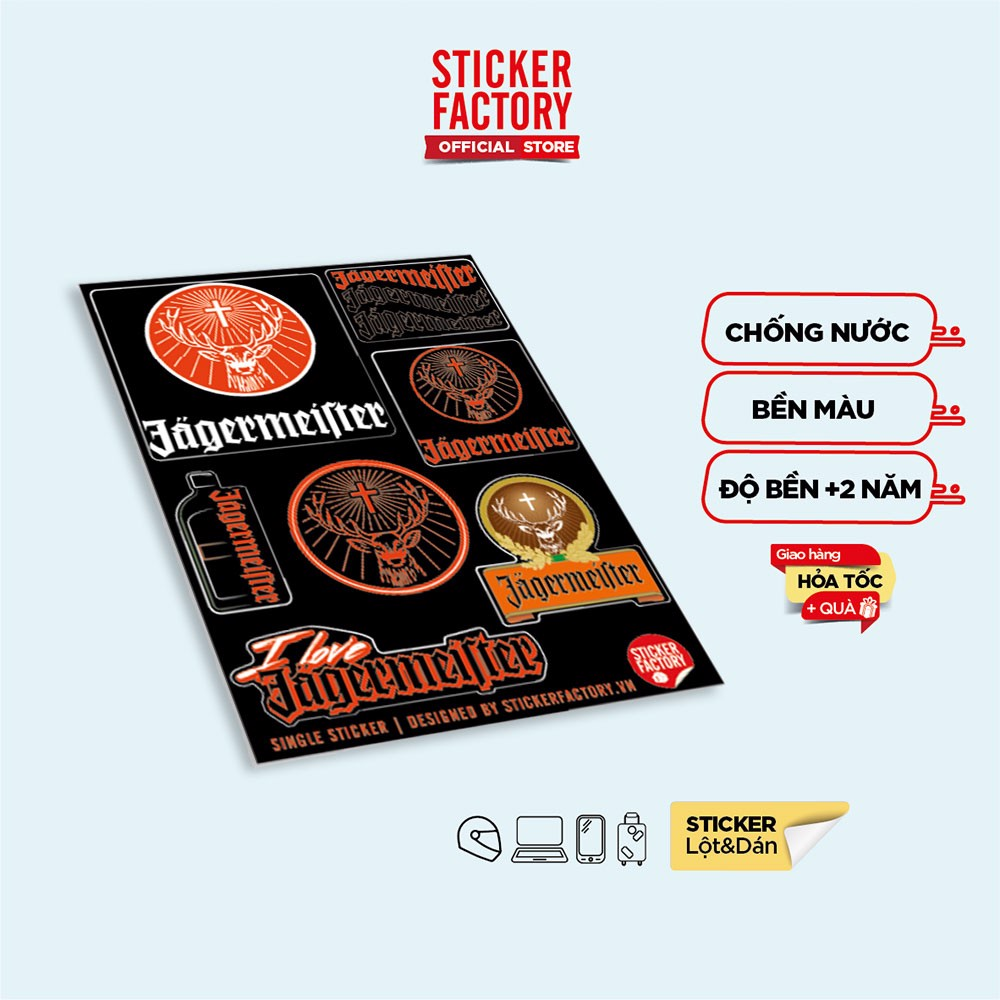 I love Jagermeister - Single Sticker hình dán lẻ