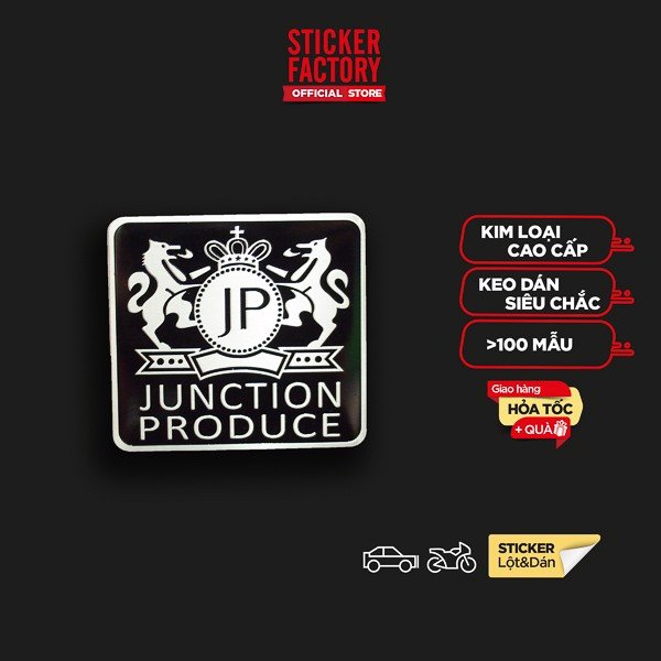Junction Produce - Sticker metal hình dán kim loại