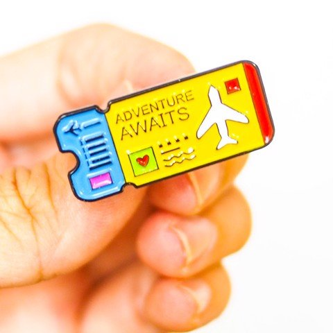 Adventure Awaits - Pin sticker ghim cài áo