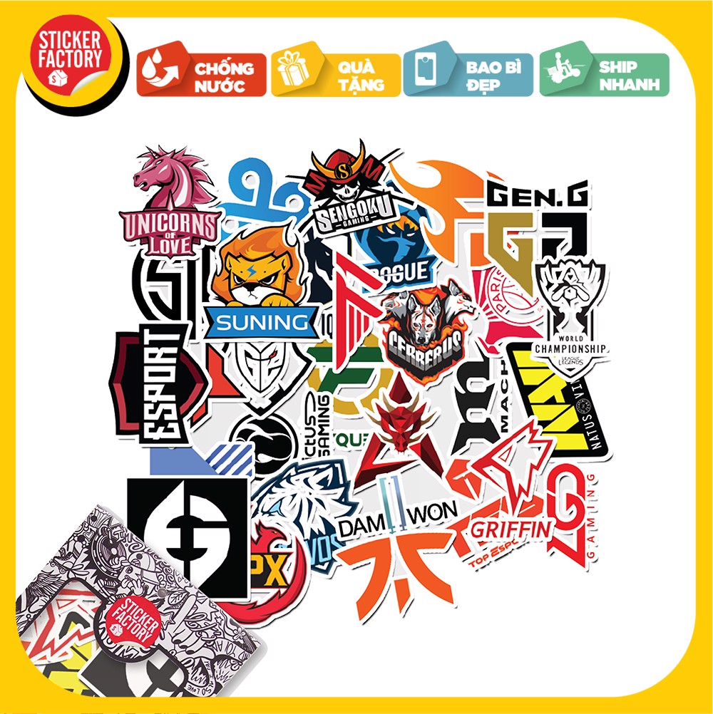 Esport Logo - Set 30 sticker hình dán