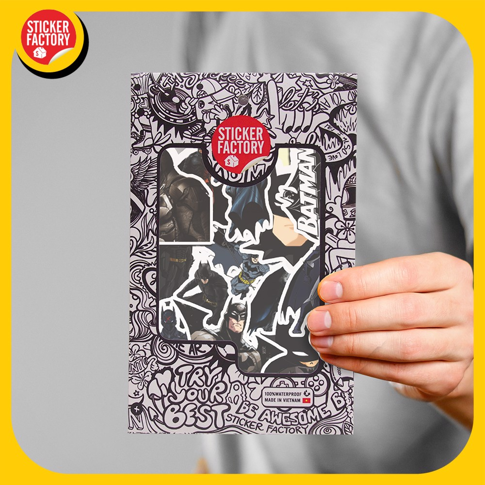 Batman - Set 30 sticker hình dán
