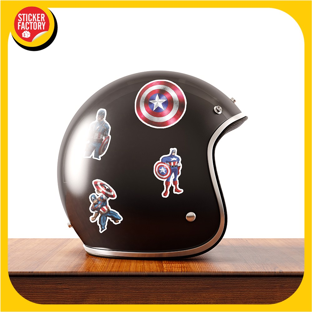Captain American - Set 30 sticker hình dán