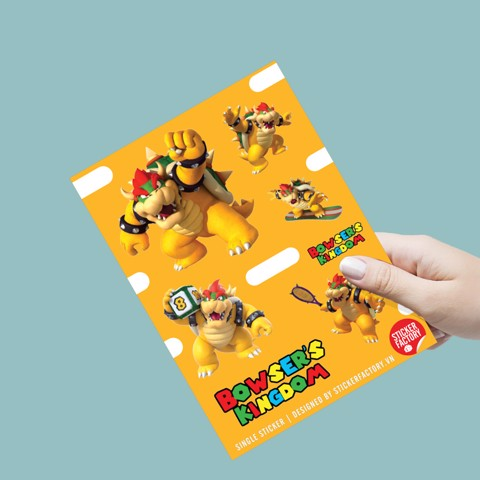 Bowser's Kingdom - Single sticker hình dán lẻ
