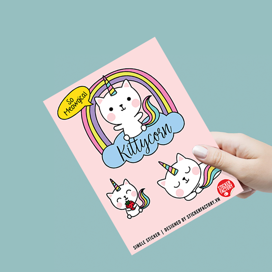 Kittycorn - Single Sticker hình dán lẻ