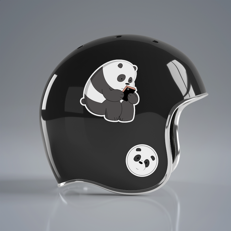 Gấu Trúc Panda - Single Sticker hình dán lẻ We Bare Bears