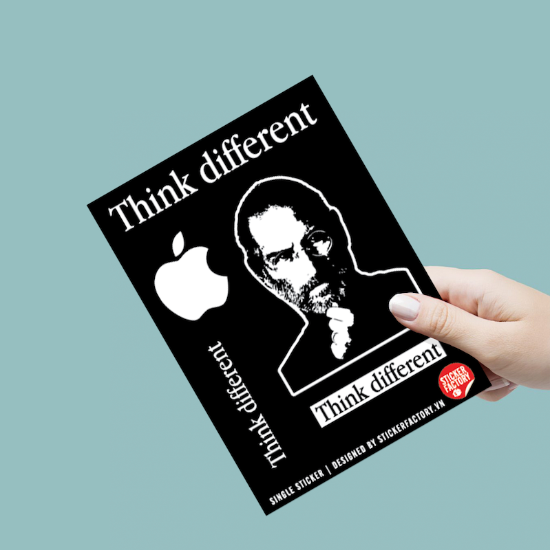 Think Different - Single Sticker hình dán lẻ