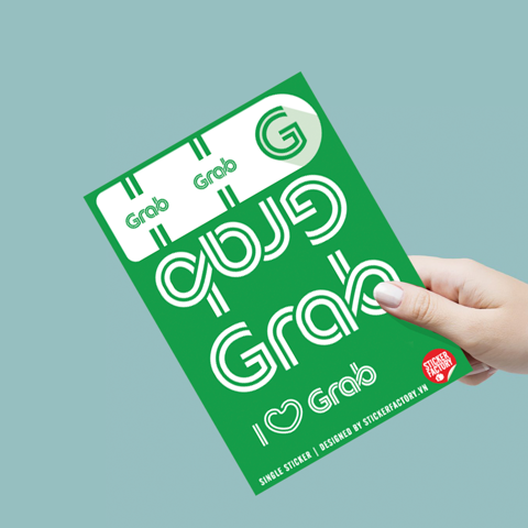 I love GRAB - Single Sticker hình dán lẻ