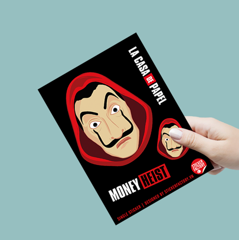 The Face of Dali Money Heist - Single Sticker hình dán lẻ