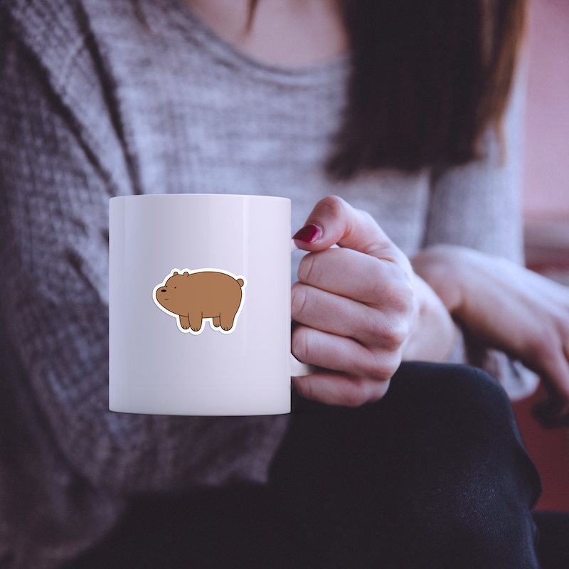 Gấu Nâu Grizz - Single Sticker hình dán lẻ We Bare Bears