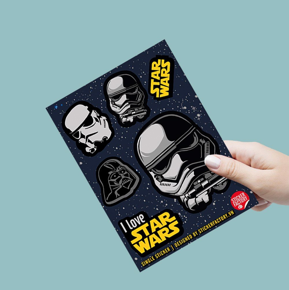 I love Star Wars - Single Sticker hình dán lẻ