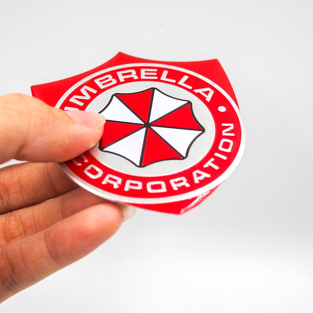 Sticker hình dán metal Umbrella - Shield
