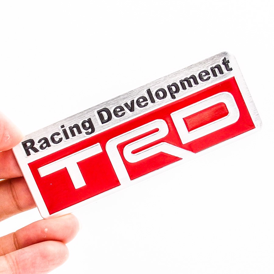 Sticker hình dán metal Toyota Racing Development - TRD