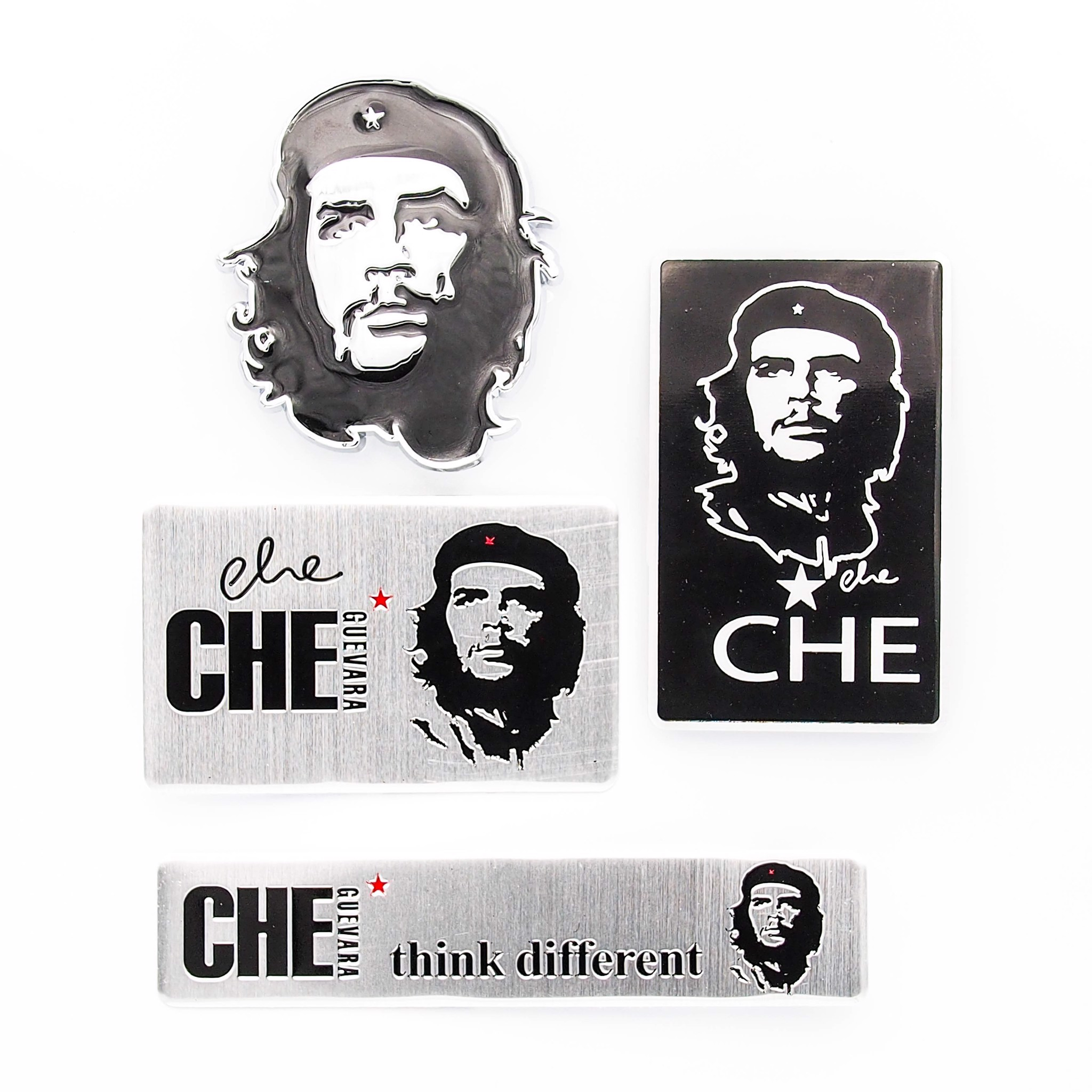 Set 4 sticker metal kim loại - Che Guevara
