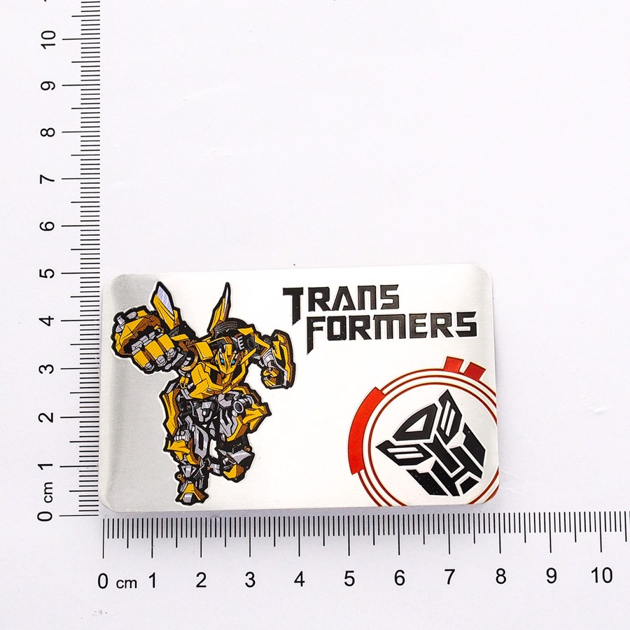 Sticker hình dán metal thẻ Transformer - Protect The Earth