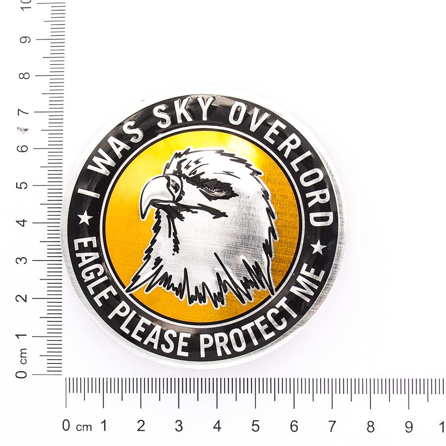 Sticker hình dán metal Eagle Round