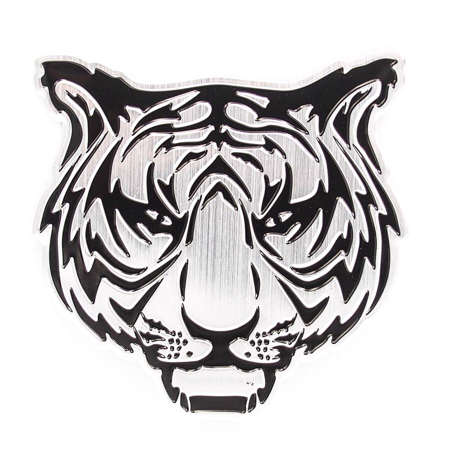Sticker hình dán metal Tiger Head