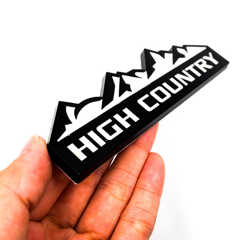 High Country - Sticker hình dán metal kim loại 3D