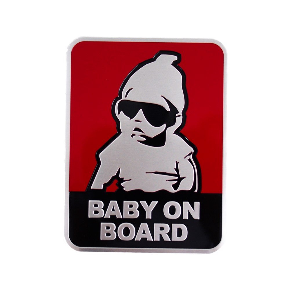 Sticker metal hình dán kim loại - Baby on board