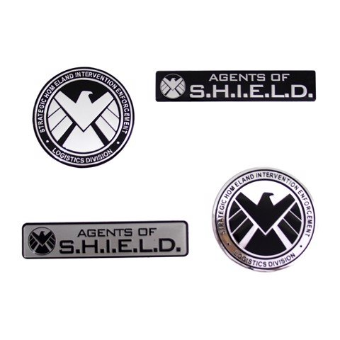 Set 4 Sticker hình dán metal Shield