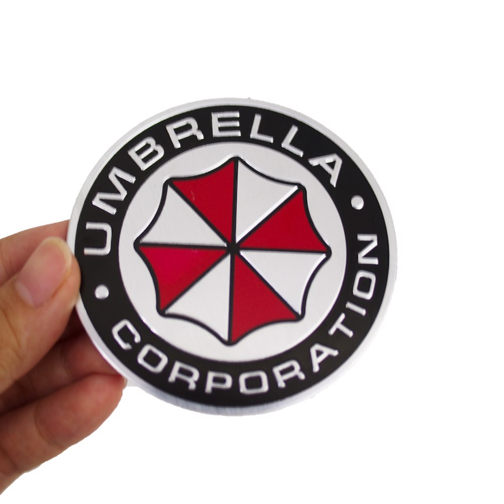Sticker hình dán metal Umbrella - Round