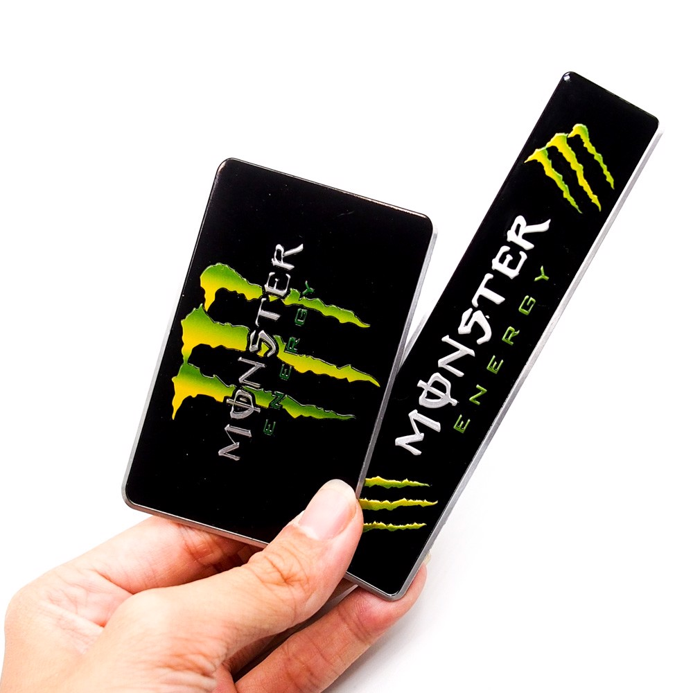 Monster Energy - Set 2 sticker metal hình dán