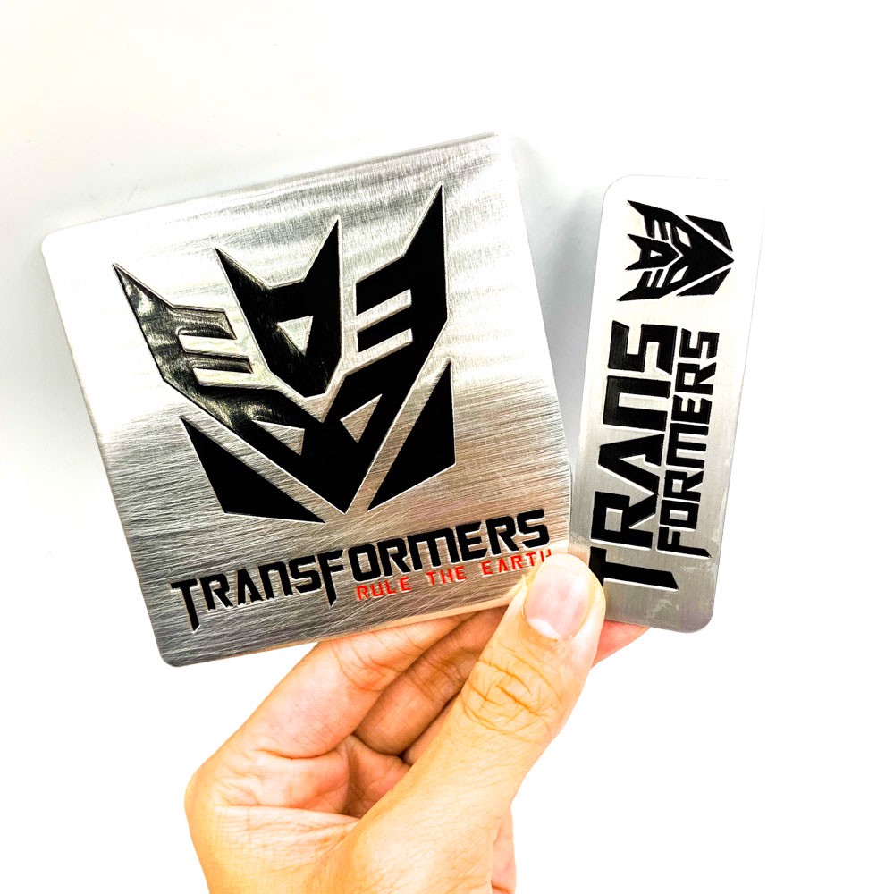 Set 2 sticker metal hình dán Transformer - RULE The Earth