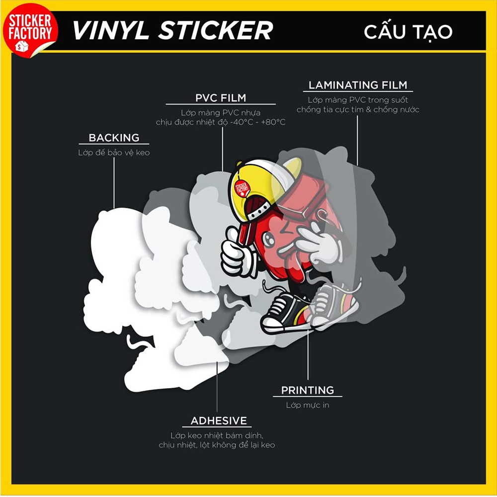 Rock - Set 30 sticker hình dán