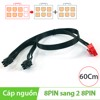 Cáp nguồn 8Pin Male to 2x6Pin Male 60Cm