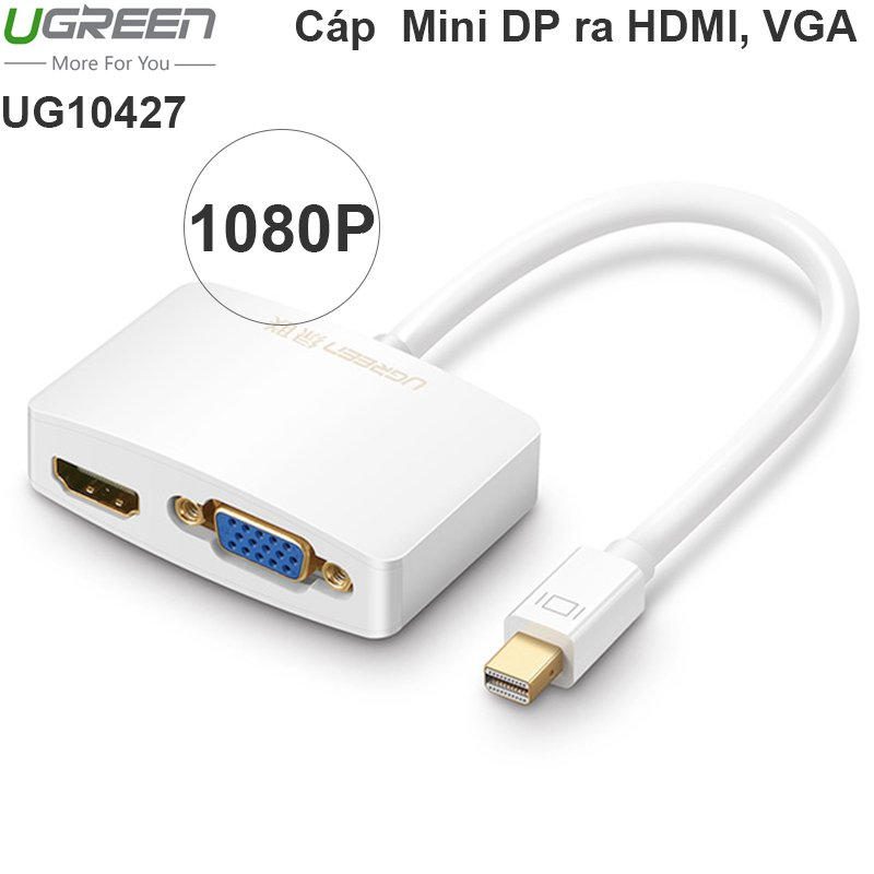 Mini DisplayPort to VGA + HDMI Ugreen 10427