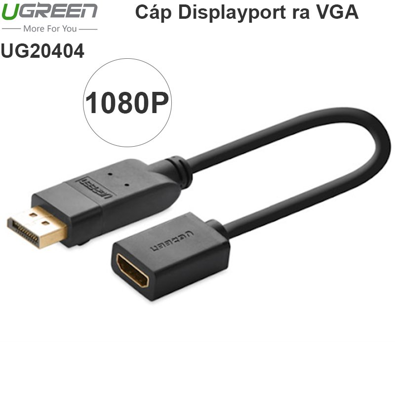 Displayport to HDMI Female 20cm Ugreen 20404