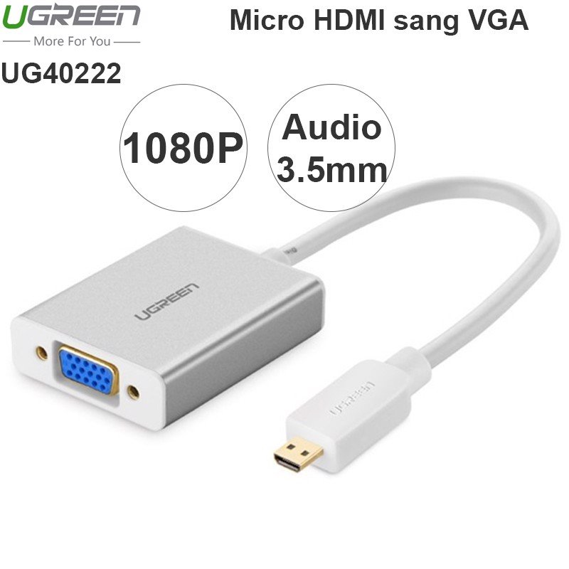 Micro HDMI to VGA Audio converter Ugreen 40222 1080P